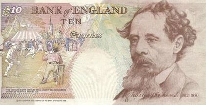 Charles Dickens Young Charles Dickens £10 Note