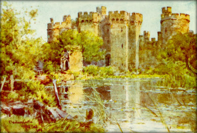 Bodiam Castle - ruined and overgrown