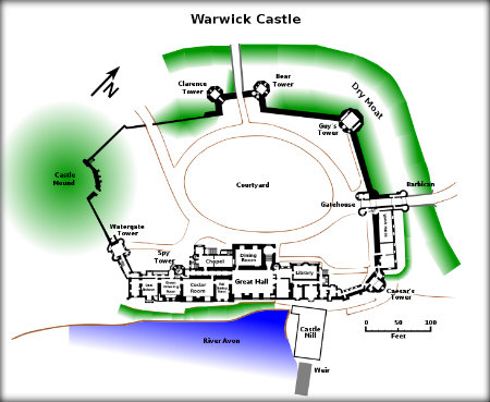 Warwick Castle Plan