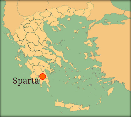 This is a map of Sparta.