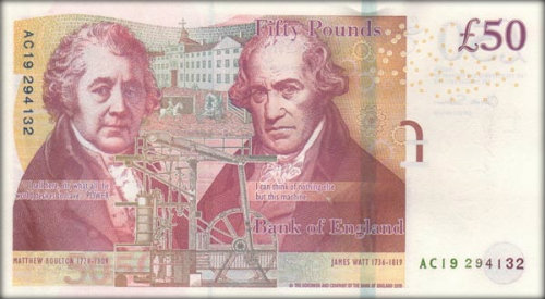 James Watt on £50 note