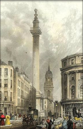 Facts about the monument to the great fire of london for Facts about the monument